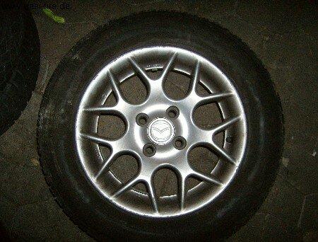"""14"""" Mazda  Alufelgen + Sommerreifen 323; MX-3"""