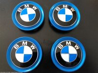 original BMW Nabenabdeckung mit blauem Rand